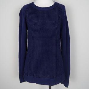 J.CREW   Warmspun Waffle Knit Pullover Sweater